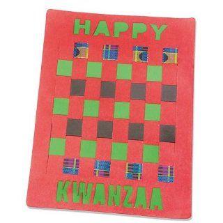 S&S Worldwide Kwanzaa Weaving Mat Craft Kit (Makes 12): Toys & Games