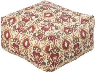 "24"" x 24"" x 13"" Poufs 100% Polyester Maroon, Red Clay, Adobe, Sepia, Putty The southwestern pattern of this indoor/outdoor pouf will give your space the feel of the old west. The shape of this pouf not only makes it an ideal place to rest yo"