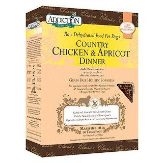 Addiction Grain Free Country Chicken & Apricot Dinner Raw Dehydrated Dog Food, 2 lb box (makes 6 lbs of food)  Dry Pet Food