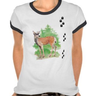White Tailed Deer Tracks Animal Shirt