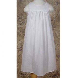 Baby Girls Size 6M White Polycotton Gathered Skirt Baptism Slip: Infant And Toddler Christening Apparel: Clothing