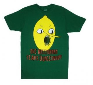 One Million Years Dungeon   Adventure Time Sheer T shirt: Clothing