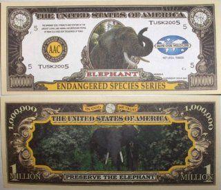 Set of 10 Bills Elephant Million Dollar Bill Toys & Games