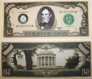 Set of 10 Bills William Henry Harris Million Dollar Bill: Toys & Games