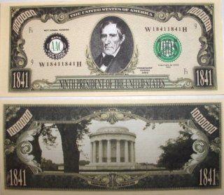 Set of 10 Bills William Henry Harris Million Dollar Bill Toys & Games