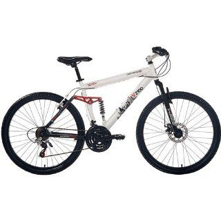 "Genesis V2100 26"" Dual suspension Men's Mountain Bike, White 12692 : Hardtail Mountain Bicycles : Sports & Outdoors"