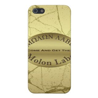 Molon Labe 2nd Amendment Gun Rights Slogan iPhone 5 Cases