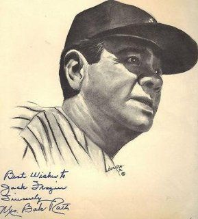 Mrs. Babe Ruth signed autographed Babe Ruth Print JSA   Autographed MLB Art at 's Sports Collectibles Store