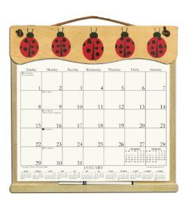 Wooden Refillable Wall Calendar Holder filled with the rest of 2014, 2015 and an order form for 2016 LADYBUGS