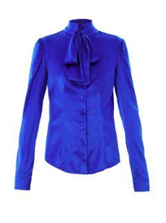 Pussy bow silk blouse  L'Wren Scott