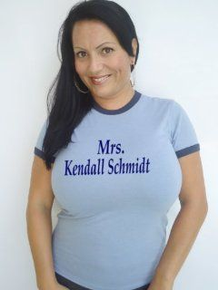 Mrs. Kendall Schmidt Heather Blue T Shirt Size Xxl: Sports & Outdoors