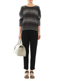 Brush striped cashmere sweater  Raquel Allegra  I