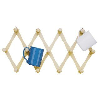 Fox Run Expanding Beechwood Coffee Mug Wall Rack Mug Hooks Kitchen & Dining