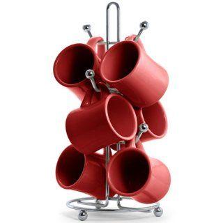 Stanford Red Coffee Mugs and Mug Holder   Mug Hooks