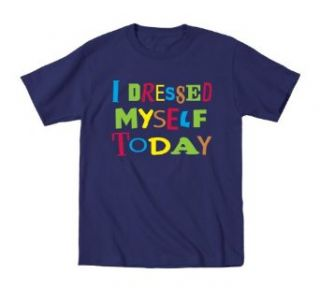 KidTeez Baby boys I Dressed Myself Today Shirt Clothing