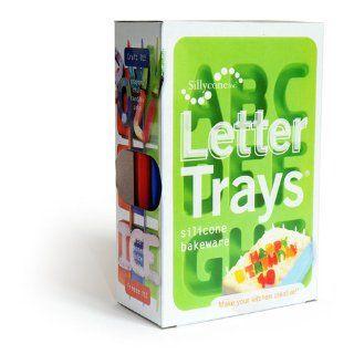 Silicone Alphabet Letter Ice / Bake Tray Set: Kitchen & Dining