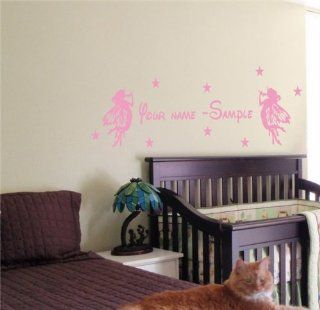 CUSTOM PERSONALIZED BABY NAME TINKERBELL FAIRY WALL STICKER BOY GIRL ROOM 14