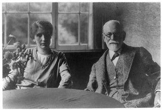 Photo: Sigmund Freud, 1856 1939, his daughter Anna Freud, 1895 1982, psychoanaylists   Prints
