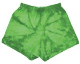 """Tie Dye 100% Cotton Youth 3"""" Shorts, Kelly Spider, Xl : Everything Else"""
