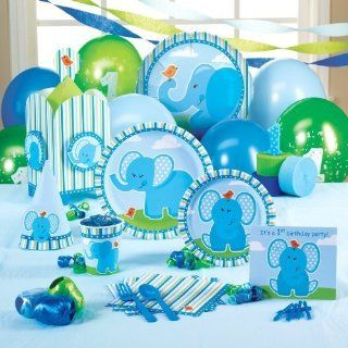 Birthday Express Blue Elephants 1st Birthday Party Supplies: Health & Personal Care
