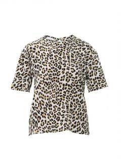 Logan leopard print silk blouse  Equipment