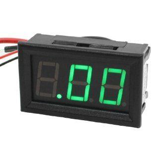 DC 0 10A Panel Mount Current Measurement Green LED Digital Amp Ammeter