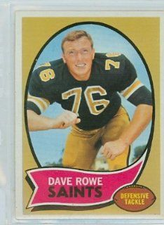1970 Topps Football 101 Dave Rowe Saints Near Mint at 's Sports Collectibles Store