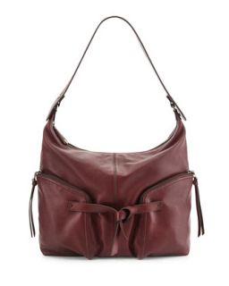 Farrah Leather Hobo Bag, Bordeaux   Kooba