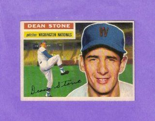 Dean Stone 1956 Topps Baseball (Near Mint and Clean) (Washington Nationals): Everything Else