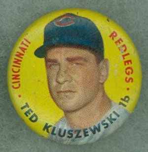 1956 Topps Pins 27 Ted Kluszewski Reds Near Mint at 's Sports Collectibles Store