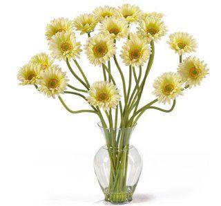 Nearly Natural Gerber Daisy Liquid Illusion Silk Flower Arrangement   Artificial Mixed Flower Arrangements