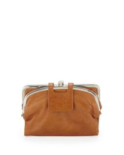 Lisa Sectioned Vintage Leather Wallet, Caramel   Hobo