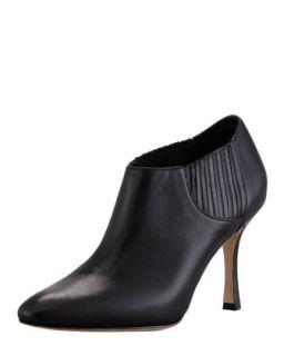 Livrea Leather Gore Ankle Bootie   Manolo Blahnik   Black (40.0B/10.0B)