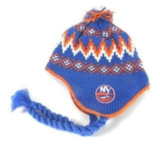 New York Islanders Tassel Beanie Hat with Ball Top : Sports Fan Beanies : Sports & Outdoors