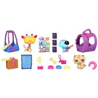 Littlest Pet Shop Themed Play Pack   World Traveling Pets: Toys & Games