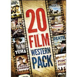 20 Movie Western Pack: Willie Nelson, Patrick Wayne, John Wayne, John Carradine, Chuck Connors, Clint Walker, Twenty Features: Movies & TV