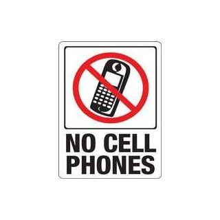 """Hy ko 20618 """"No Cell Phones"""" Plastic Sign 12""""x9"""" (Pack of 10)  Street Signs  Patio, Lawn & Garden"""