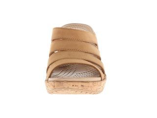 Crocs A Leigh Cork Wrap Wedge Cocoa/Gold