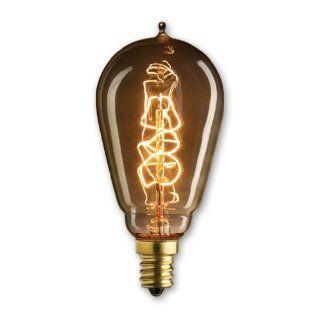 Bulbrite NOS25ST15/E12 25 watt Nostalgic Edison ST15 Incandescent, E12 Candelabra Base, Vintage Spiral Filament, Warm White   Incandescent Bulbs