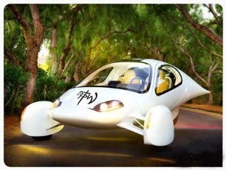 "N.O.T.W. NOT OF THIS WORLD Giant Black 10"" Vinyl Sticker/Decal (Shown on a cool FUTURISTIC FLYING CAR): Automotive"