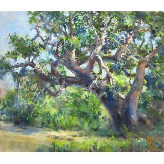 Art: 200 Year Old Oak : Oil : Joyce Pike OPAM