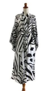 Silk robe, 'White Night'   Women's Silk Patterned Robe at  Women�s Clothing store: Bathrobes