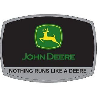 "John Deere ""Nothing Runs Like A Deere"" Belt Buckle: Patio, Lawn & Garden"