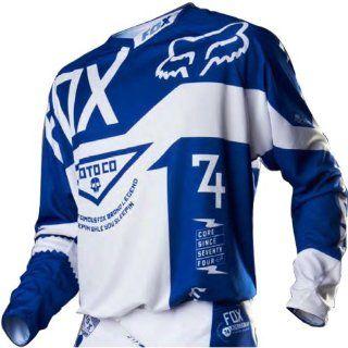 Fox Racing 360 Machina A1 LE Men's MotoX/Off Road/Dirt Bike Motorcycle Jersey   Blue / Large: Automotive