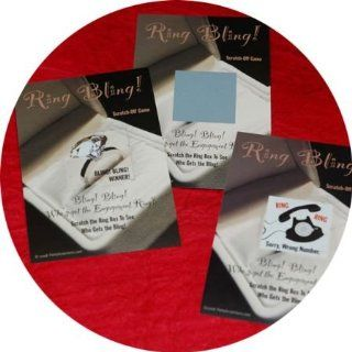 Bridal Shower Party Scratchers Ring Bling Scratch off Game