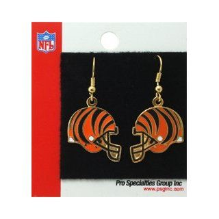 Cincinnati Bengals Earrings J Hook Helmet Gold Tone Nfl  Sports Fan Earrings  Sports & Outdoors