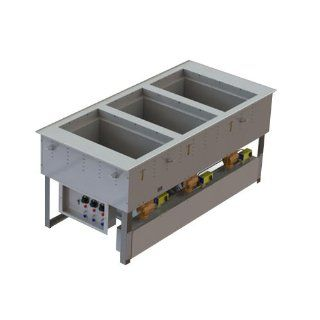 Vollrath 3667301D Modular Three Section Combination Hot / Cold Drop In Food Well   120V: Kitchen Small Appliances: Kitchen & Dining