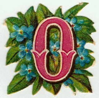 OLD FASHIONED ALPHABET LETTER O