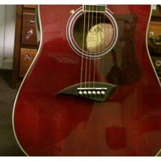 Kona K1TRD Acoustic Dreadnought Cutaway Guitar in Transparent Red Finish Musical Instruments