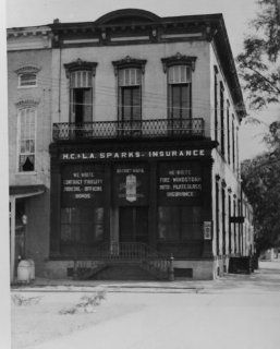 early 1900s photo Old Eastern Bank, Eufaula, Alabama Caption on item: On the d9